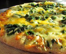Фото пиццы с морской капустой